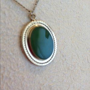 Vintage jade & gold filled necklace